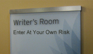 writers room sign