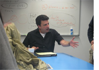Corey Mandlell teaching picture